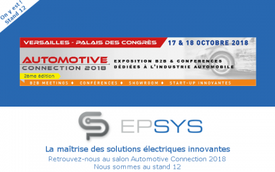 [RDV] Salon Automotive Connection, 17/18 octobre, Versailles